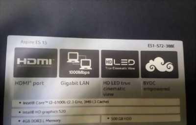Laptop Acer mới tại Phi Long 3 tháng, còn mới