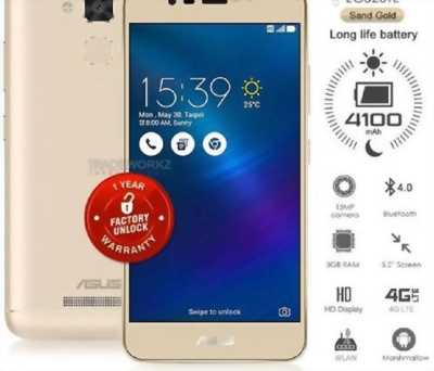 Asus Zenfone 3 MAX 5.2 GOLD FULL BOX 98%