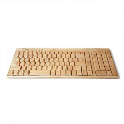 Bộ bàn phím chuột không dây bằng tre