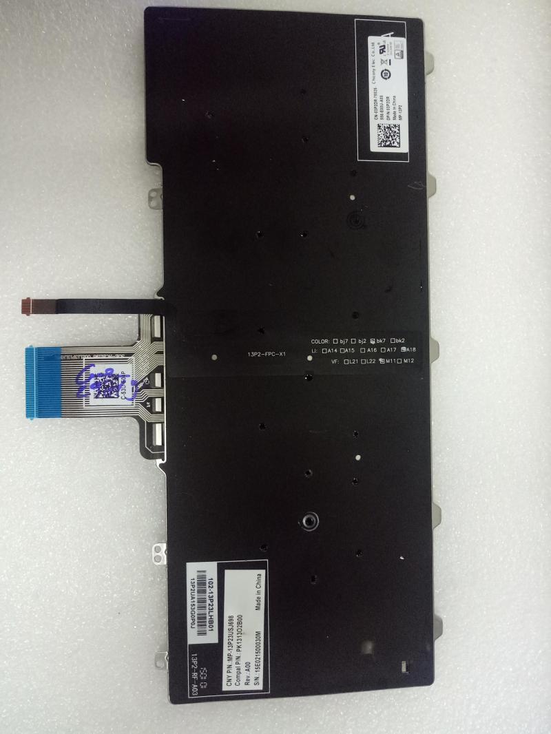 Bàn phím zin tháo máy Dell E7250, E7270, E5250 - Phím có đèn Backlit keyboard