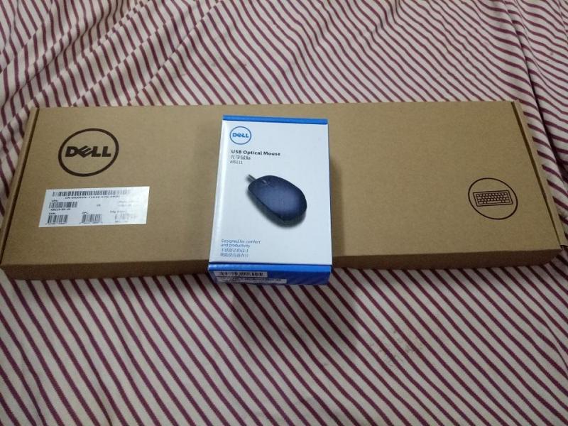 Combo Bàn phím Dell và chuột có dây - Hàng xịn nhập Mỹ, phím bấm êm
