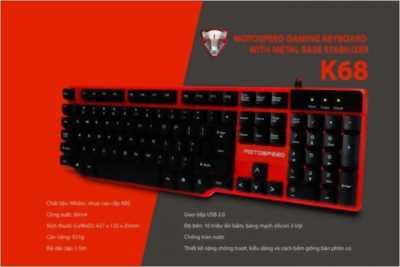 Keyboard Motospeed K68 đỏ giả cơ cổng Usb chính hãng