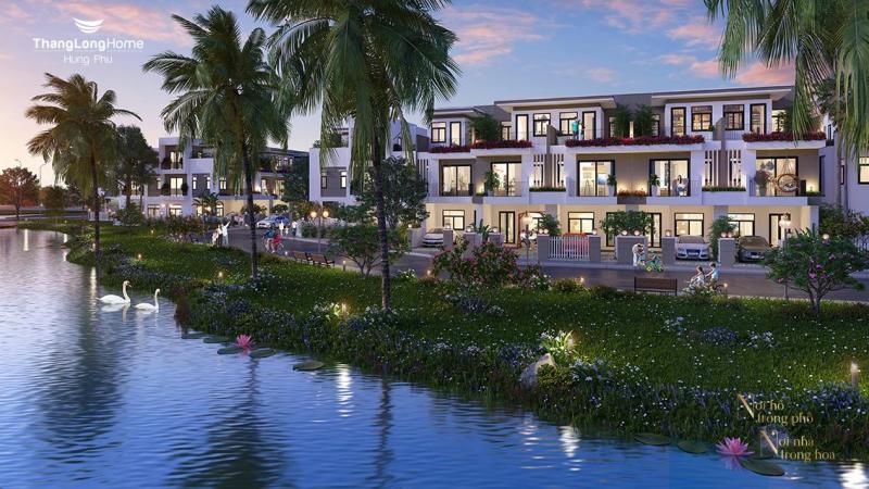 Biệt thự ven hồ Thăng Long Home Hưng Phú - Thủ Đức