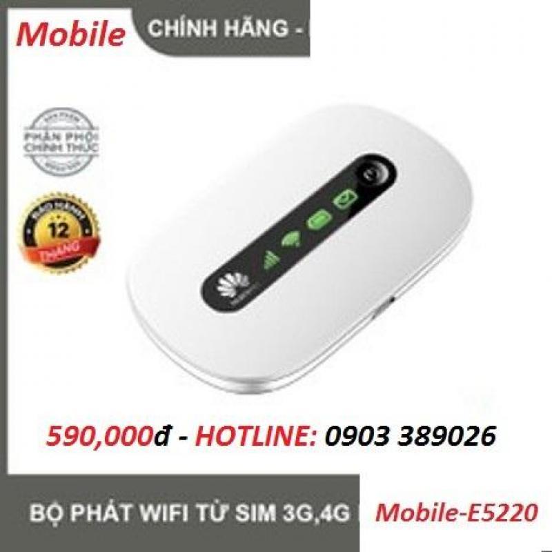 Router Wifi Di Động Mobile E5220 chuẩn 4G tốc dộ cao
