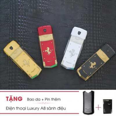 Điện thoại Luxury A8 sang trọng + tặng kèm 1 pin, bao da