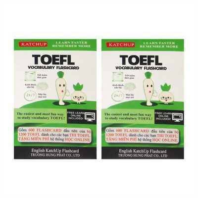 COMBO trọn bộ KatchUp Flashcard TOEFL-High Quality.