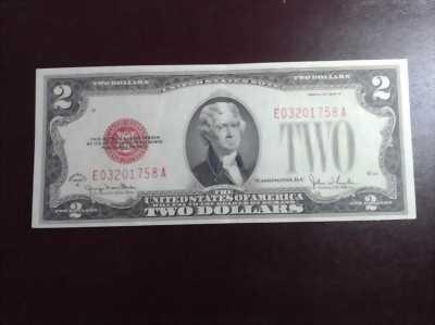 Cần bán nhanh 2 USD Mỹ năm 1928 xưa số: E 0320 1758 A