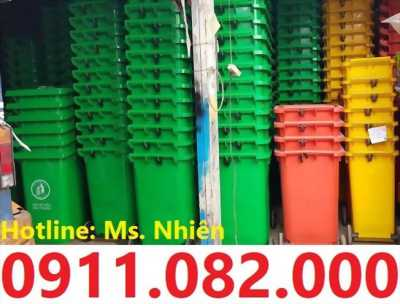 Thùng rác 120 lít giá rẻ tại long an- thùng rác công cộng- 0911082000