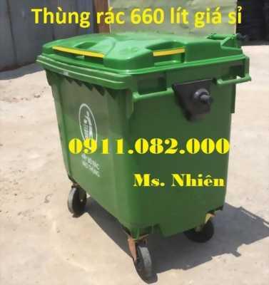Phân phối thùng rác 660 lít hàng nhập khẩu thái lan giá rẻ- thùng rác mới 100%