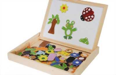 Bộ ghép hình bằng gỗ cho bé.