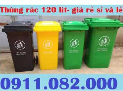 Sỉ lẻ thùng rác 120 lít giá rẻ tại vũng tàu- thùng rác giá sỉ lẻ- 0911.082.000