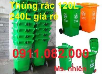 Phân phối thùng rác 120 lít 240 lít 660 lít giá rẻ tại đồng nai