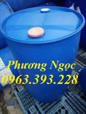 Thùng phuy nhựa 220 lít nắp kín, thùng phuy nhựa đựng hóa chất, thùng phuy nhựa giá rẻ