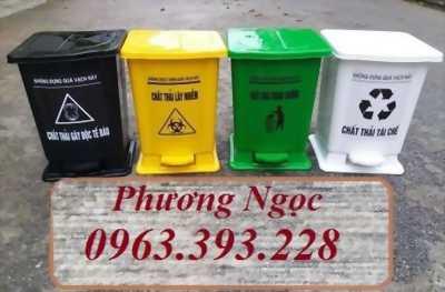 Thùng rác y tế đạp chân, Thùng rác HDPE, Thùng rác y tế cao cấp