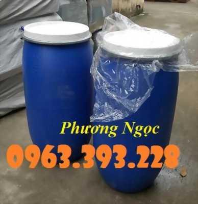 Thùng phuy nhựa 220 lít, phuy đựng hóa chất, phuy làm tháp trồng cây, làm bè nổi