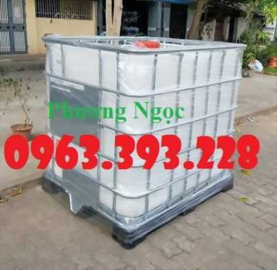 Tank nhựa 1 khối nhập khẩu, bồn 1000L chứa hóa chất, thùng nhựa đựng nước