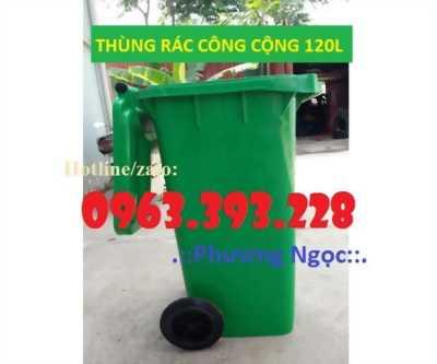 Thùng rác nhựa HDPE 120 Lít, thùng rác công cộng,thùng rác công nghiệp
