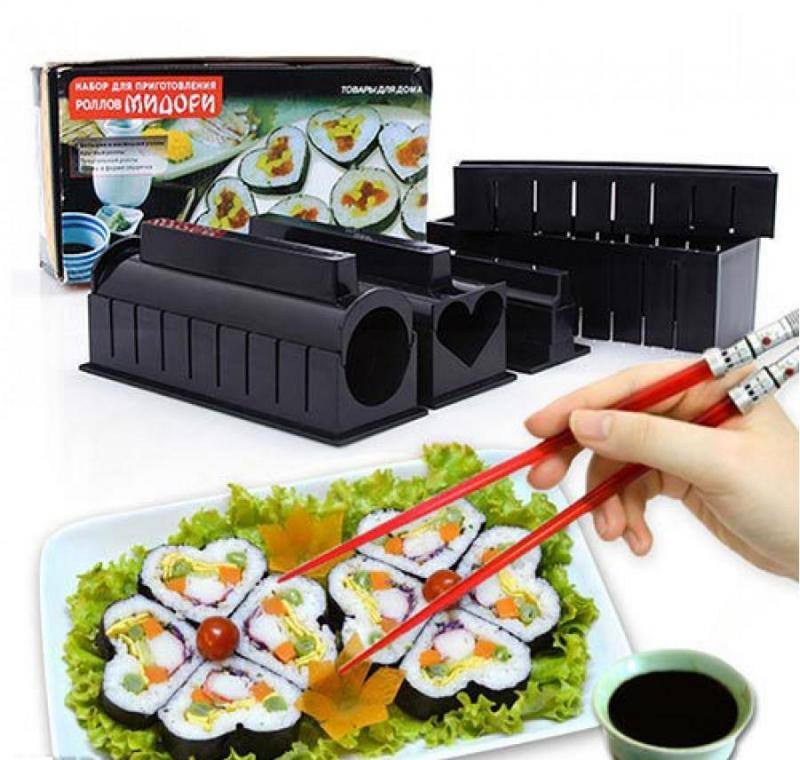 Bộ khuôn làm sushi nhiều kiểu đẹp loại tốt GD0013