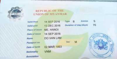 Visa Đi Myanmar Cho Người Quốc Tịch Hy Lạp Italia ( Ý )