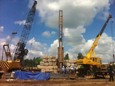 Ép cọc bê tông công trình tư nhân