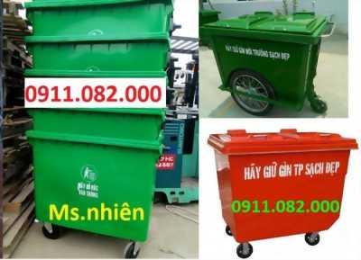 Nơi cung cấp thùng rác giá sỉ tại cần thơ- thùng rác 120 lít 240 lít giá rẻ- 0911.082.000
