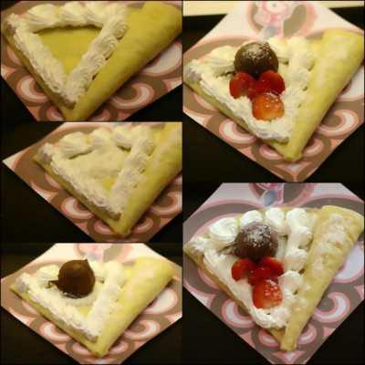 Bán Bánh Crepe 3 vị dâu, chuối, đào