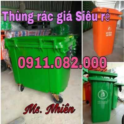 Chuyên sỉ lẻ thùng rác 120L 240L 660L nhập khẩu giá rẻ tại đồng tháp- lh 0911.082.000