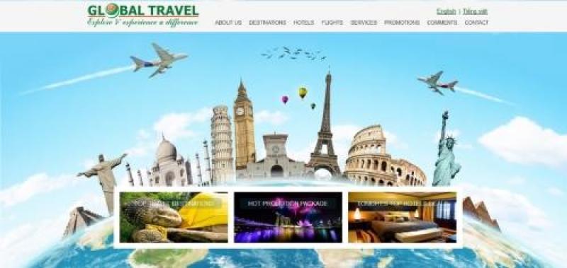 Thiết kế website du lịch đẳng cấp, chuyên sâu