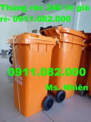 Thùng rác 240 lít giá rẻ tại bình thạnh- 0911.082.000