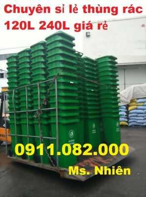 Đại lý cung cấp thùng rác 120 lít 240 lít giá rẻ tại bình thuận- thùng rác siêu rẻ-0911082000