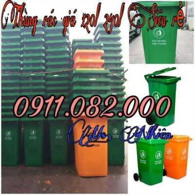Cung cấp thùng rác giá rẻ tiền giang, long an- thùng rác 120 lít 240 lít