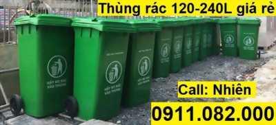 Chuyên sỉ lẻ thùng rác các loại giá rẻ- thùng rác 120 lít 240 lít