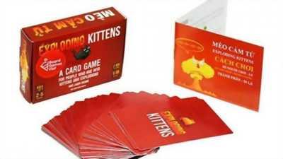 Trò chơi Board Game Exploding Kittens - Mèo Cảm Tử - Mèo Nổ!