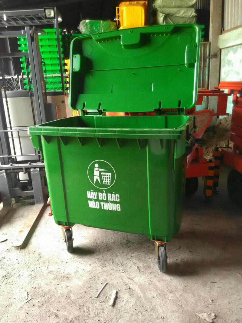 Cung cấp thùng rác 660 lít giá rẻ- xe gom rác 660 lít