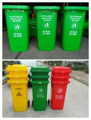 Thùng rác 240 lít giá rẻ tại sóc trăng- thùng rác 240 lít màu xanh