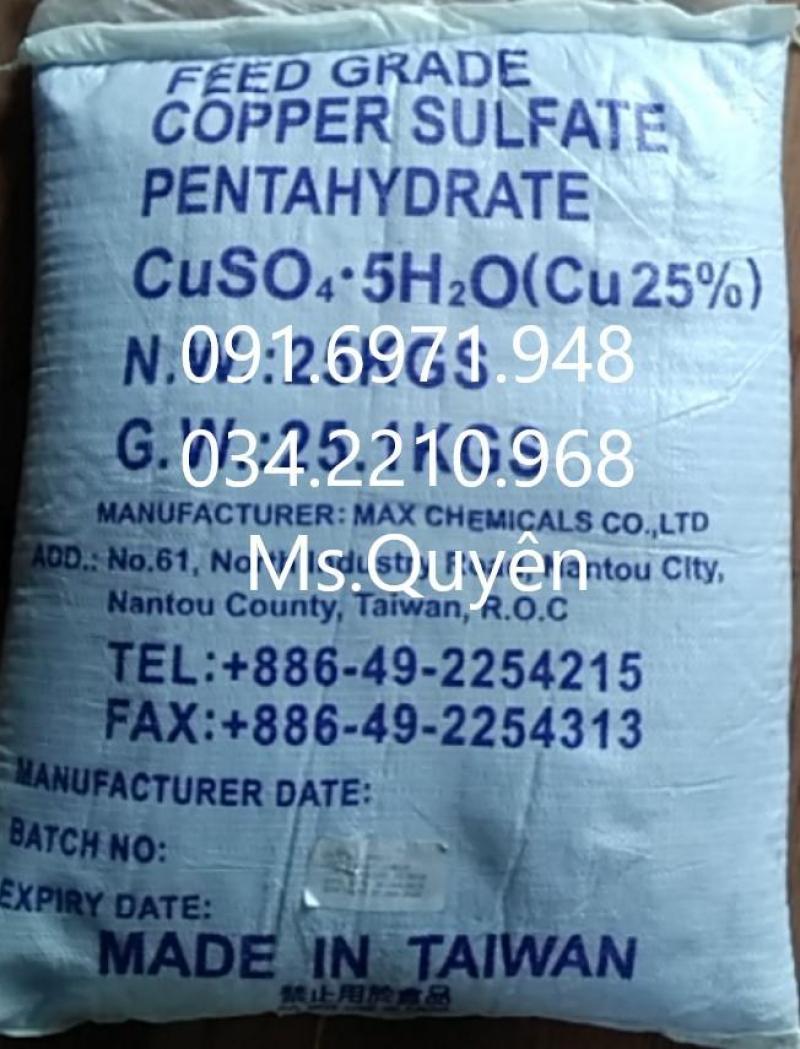 Mua bán phèn xanh, đồng sulphate, CuSO4 Đài Loan diệt ký sinh trùng hiệu quả, giá sỉ