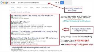 Dịch vụ quảng cáo google adwords - đăng tin lên trang nhất google