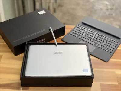 Laptop Samsung Galaxy Book SM-W620, Core M3 7Y30 4G 128G Full HD Pin 8h Full Box Còn BH 5/2019 Keng
