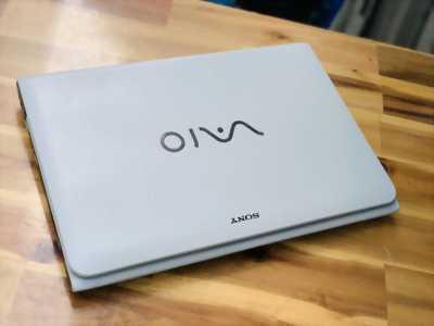 Laptop Sony Vaio SVE14, i5 3210M 4G 500G Đèn phím 14inch Màu Trắng Đẹp Zin 100% Giá rẻ