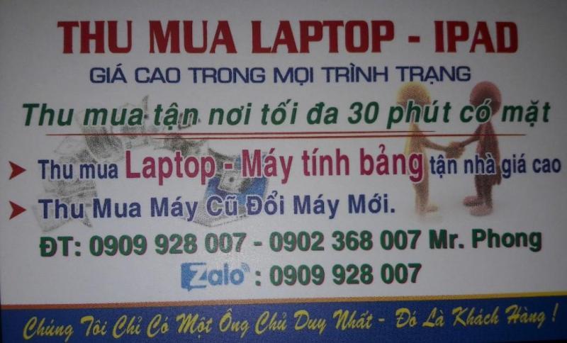 Thu mua máy tính bảng, ipad, laptop (cũ) giá cao