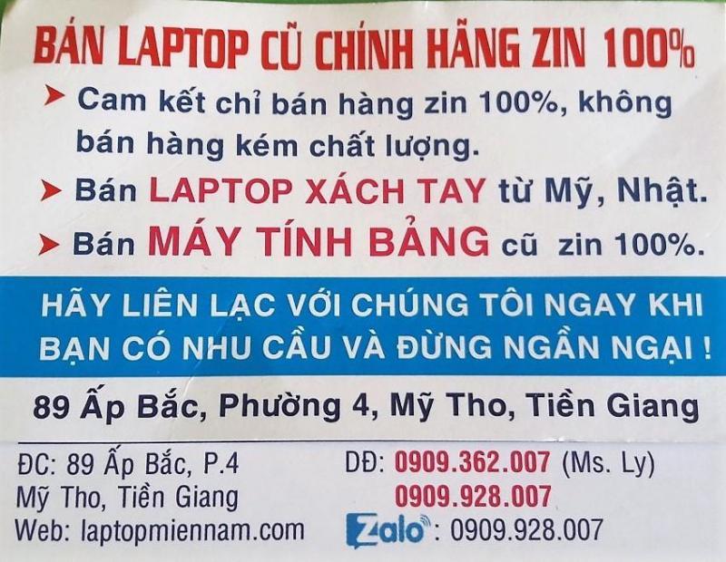 Bán laptop cũ zin 100%, mới 90% Tiền Giang