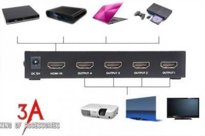 Bộ chia HDMI 1 ra 4 MT-SP144 hỗ trợ 2K * 4K chính hãng