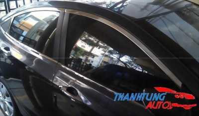 Viền khung kính cho xe Accent sedan inox 304 dày dặn
