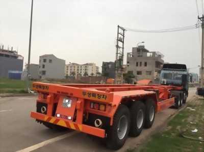 DOOSUNG Rơ Mooc tải container 3 trục 33.5 tấn với giá rẻ
