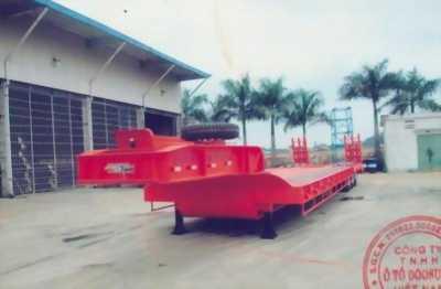 Rơ Mooc lùn – sàn phẳng- 16m- chở xe, máy công trình 3 trục