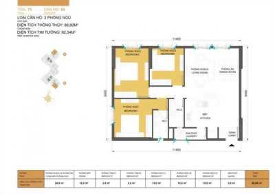 Cần bán căn hộ chung cư Masteri 3pn, giá 3.7 tỷ