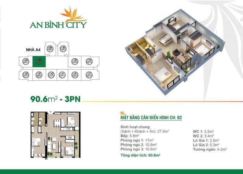 Cần bán gấp căn A7-1503 diện tích 90,6 tòa A7