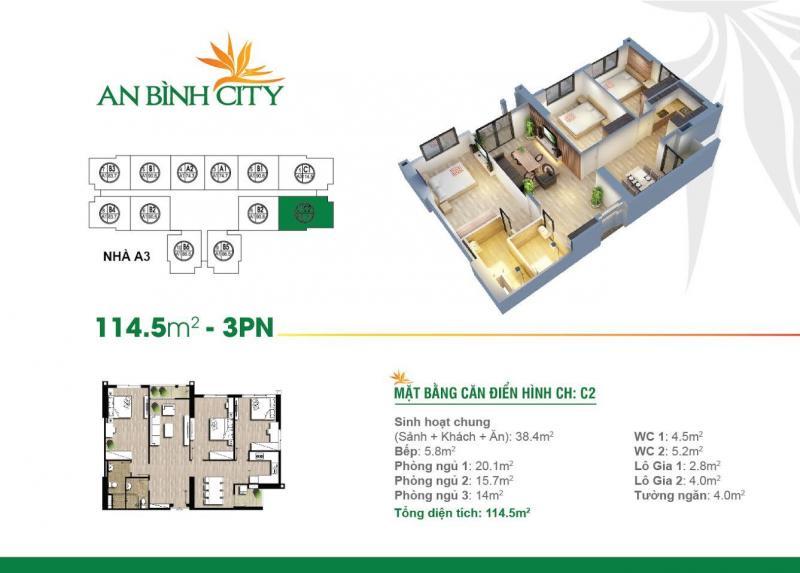 Cần bán gấp căn A7-1501 diện tích 114,5 tòa A7