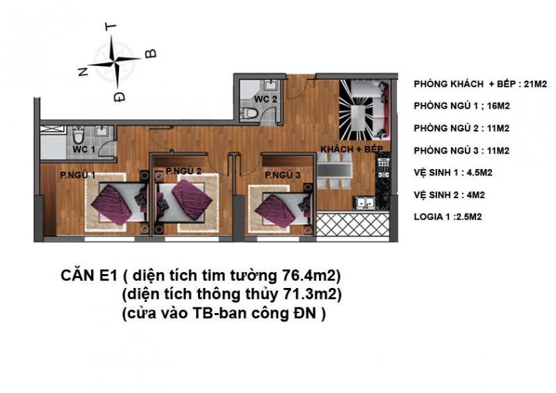 Suất ngoại giao căn hộ 234 Hoàng Quốc Việt kđt Nam Cường