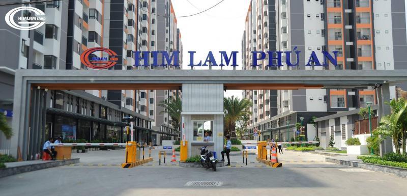Chính Chủ Cho Thuê Him Lam Phú An 70m2, giá 6.5 triệu/tháng 2PN, 2WC, ban công, LH 0938940111